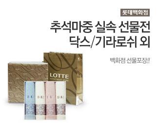 [롯데백화점] 추석마중 실속 선물전 닥스/기라로쉬 외 백화점 선물포장