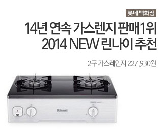 롯데백화점 2014 NEW 린나이 추천 2구 가스레인지 227,930원