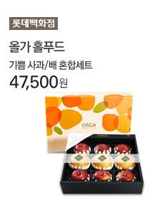 와우 1번째 [롯데백화점] 올가홀푸드 기쁨 사과/배 혼합세트 47,500원