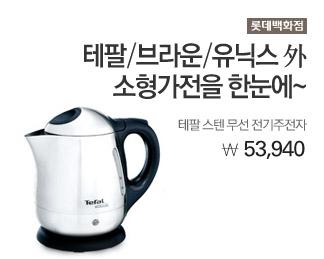 롯데백화점 테팔 스텐 무선 전기주전자 53,940원